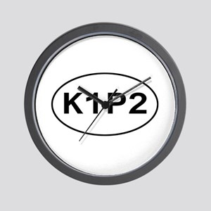 K1P2 - Knit One Purl Two Wall Clock