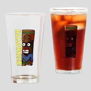 Hallowneer logo vertical Drinking Glass