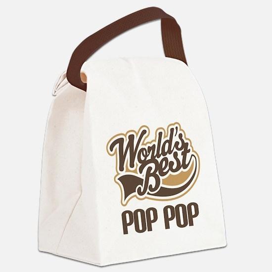 World's Best PopPop Canvas Lunch Bag