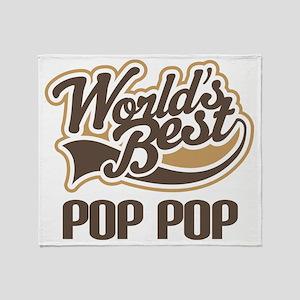 World's Best PopPop Throw Blanket
