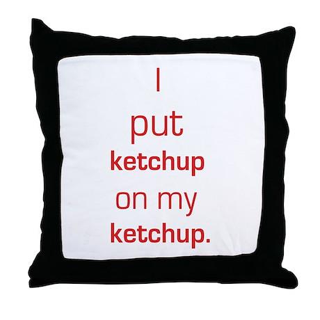Ketchup Fan Throw Pillow