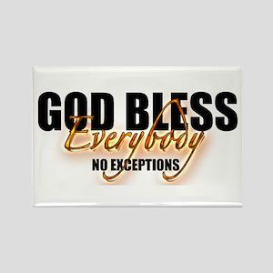 God Bless Everybody Rectangle Magnet (10 pack)