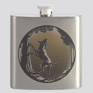 Hound Dog Art Gifts Hunting Dog Shirts & Dog Flask