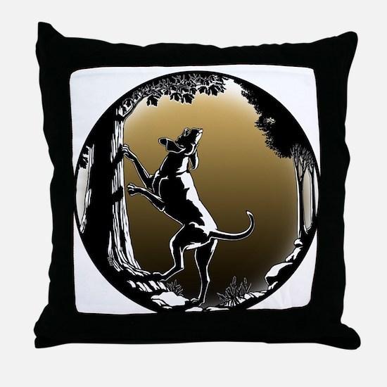 Hound Dog Art Gifts Hunting Dog Shirt Throw Pillow
