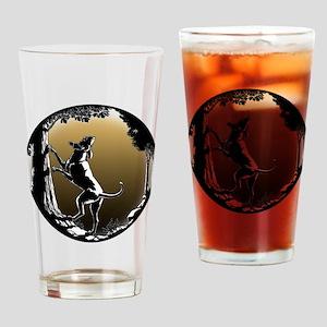 Hound Dog Art Gifts Hunting Dog Shi Drinking Glass