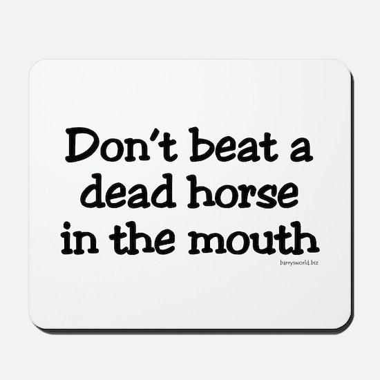 Horse Beating Mousepad