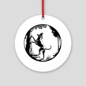 Hound Dog Art Gifts Hunting Dog Shi Round Ornament