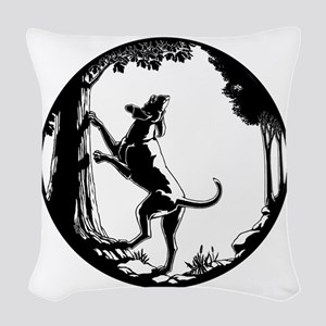 Hound Dog Art Gifts Hunting Do Woven Throw Pillow
