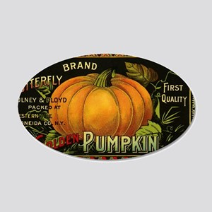 Vintage Fruit Crate Label 20x12 Oval Wall Decal