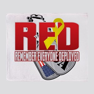 RED: Dog Tags Throw Blanket