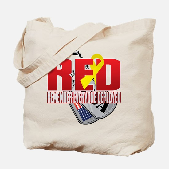 RED: Dog Tags Tote Bag