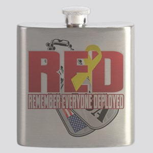 RED: Dog Tags Flask