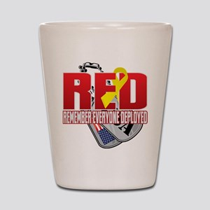 RED: Dog Tags Shot Glass