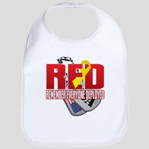 RED: Dog Tags Bib