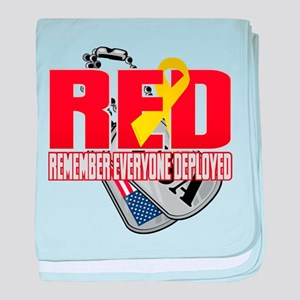 RED: Dog Tags baby blanket