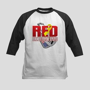 RED: Dog Tags Baseball Jersey