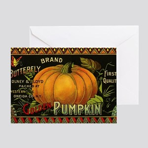 Vintage Fruit Crate Label Greeting Card