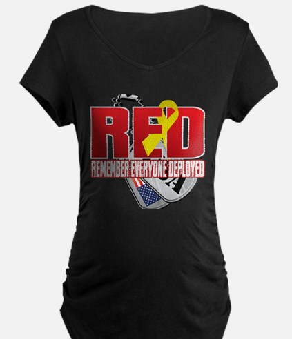 RED: Dog Tags Maternity T-Shirt