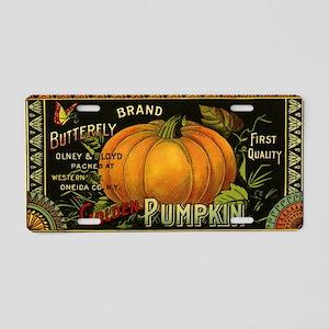 Vintage Fruit Crate Label Aluminum License Plate