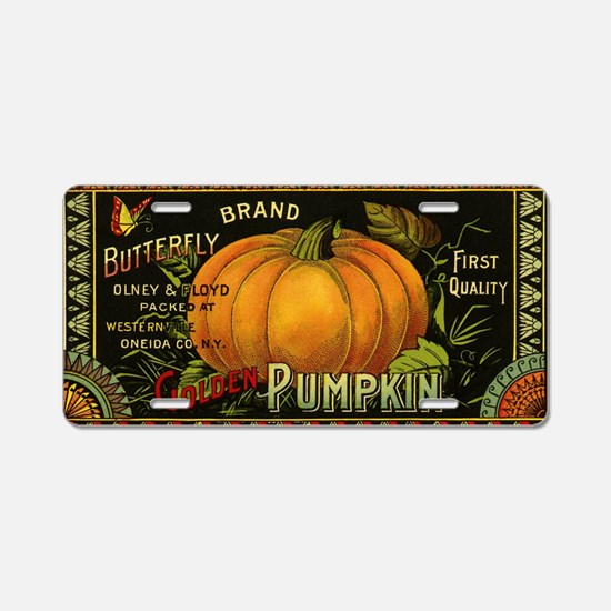 Vintage Fruit Crate Label Aluminum License Plate