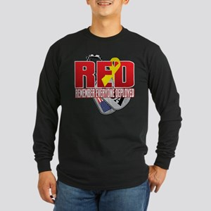 RED: Dog Tags Long Sleeve T-Shirt