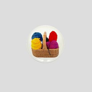 Yarn Basket - Colorful Yarn Mini Button