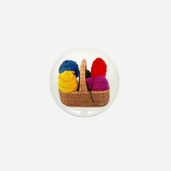 Yarn Basket - Colorful Yarn Mini Button