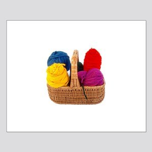 Yarn Basket - Colorful Yarn Small Poster
