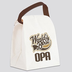 Worlds Best Opa Canvas Lunch Bag