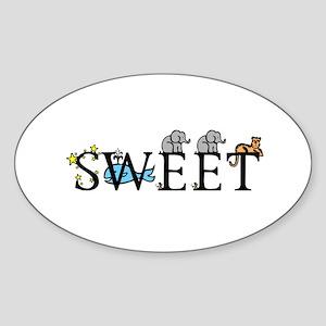 Sweet Oval Sticker