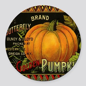Vintage Fruit Crate Label Round Car Magnet