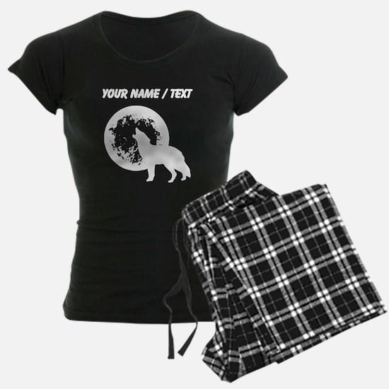 Custom Wolf Howling At Moon Pajamas
