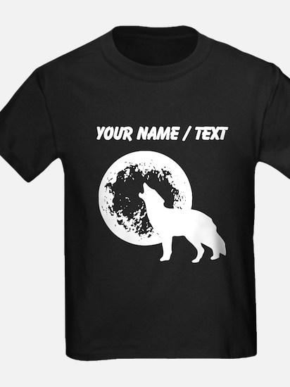 Custom Wolf Howling At Moon T-Shirt