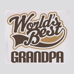 Worlds Best Grandpa Throw Blanket