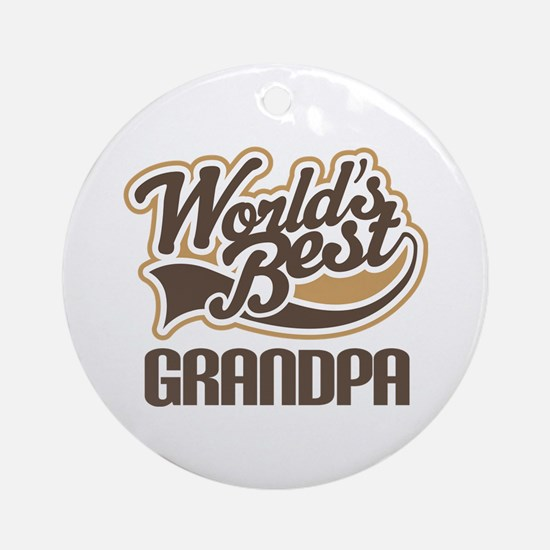 Worlds Best Grandpa Ornament (Round)