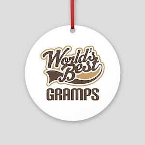 Worlds Best Gramps Ornament (Round)