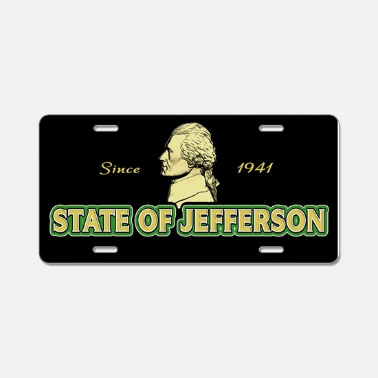 State of Jefferson - Since 1941 Aluminum License P