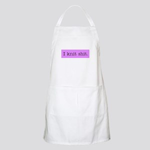 I Knit Shit BBQ Apron