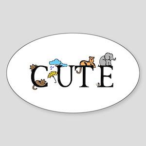 Cute Oval Sticker