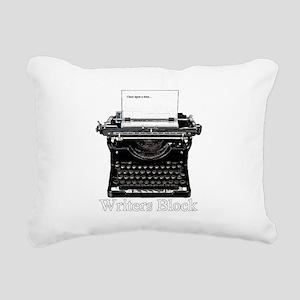 Writers Block-Typewriter Rectangular Canvas Pillow