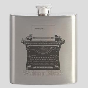 Writers Block-Typewriter Flask