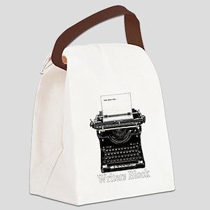 Writers Block-Typewriter Canvas Lunch Bag