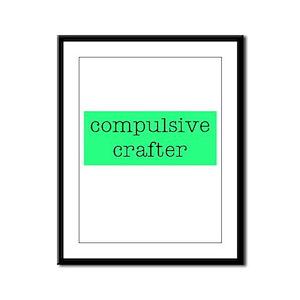 Compulsive Crafter Framed Panel Print