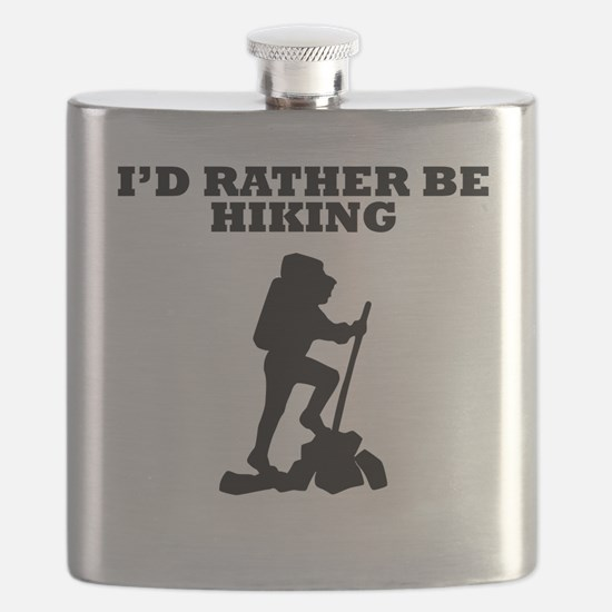 Id Rather Be Hiking Flask