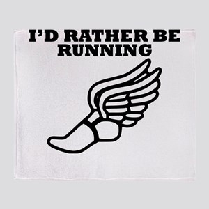 Id Rather Be Running Throw Blanket