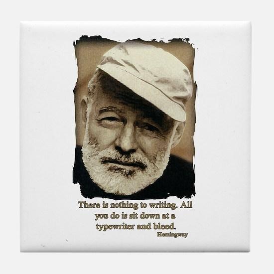 Hemingway3-Bleed Tile Coaster