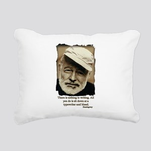 Hemingway3-Bleed Rectangular Canvas Pillow