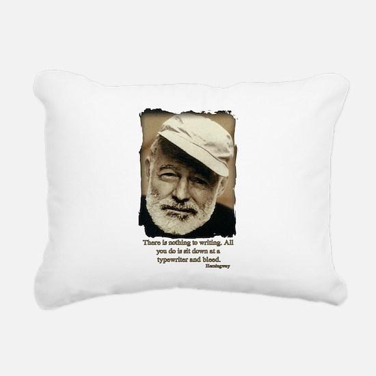 Hemingway3-Bleed Rectangular Canvas Pillow
