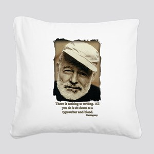 Hemingway3-Bleed Square Canvas Pillow