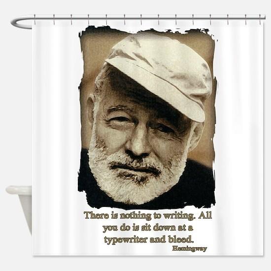 Hemingway3-Bleed Shower Curtain